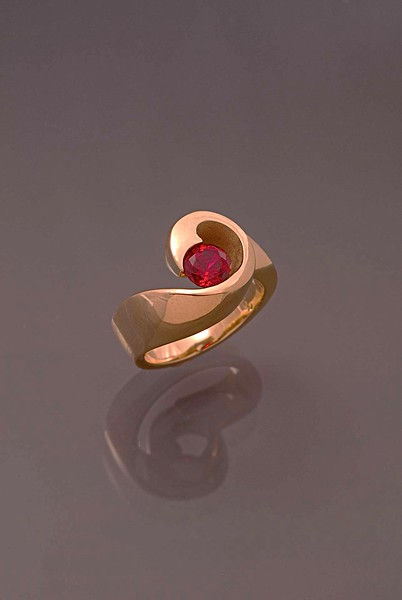 Ring,14kt -Gold,-Chatham-Ruby