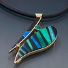 Pendant-Intarsia,Black-Jade,Opal,Chrysoprase,Diamond,Emerald14kt Gold-Sterling copy 2
