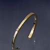 bracelet 14kt yellow gold forged  15 pt diamond