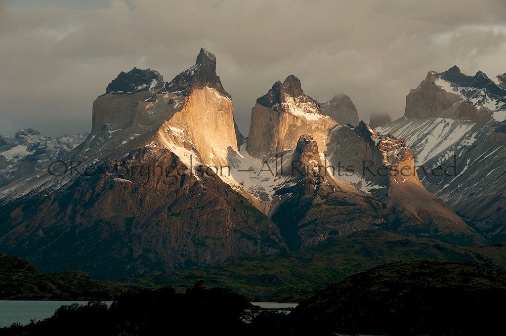 The Horns at sunrise. Torres del Paine National Park, Chilean Patagonia.