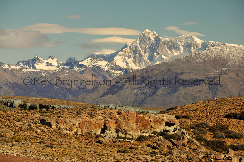 Cerro San Lorenzo (12,160 ft. ) Patagonia's 2nd highest mountain.