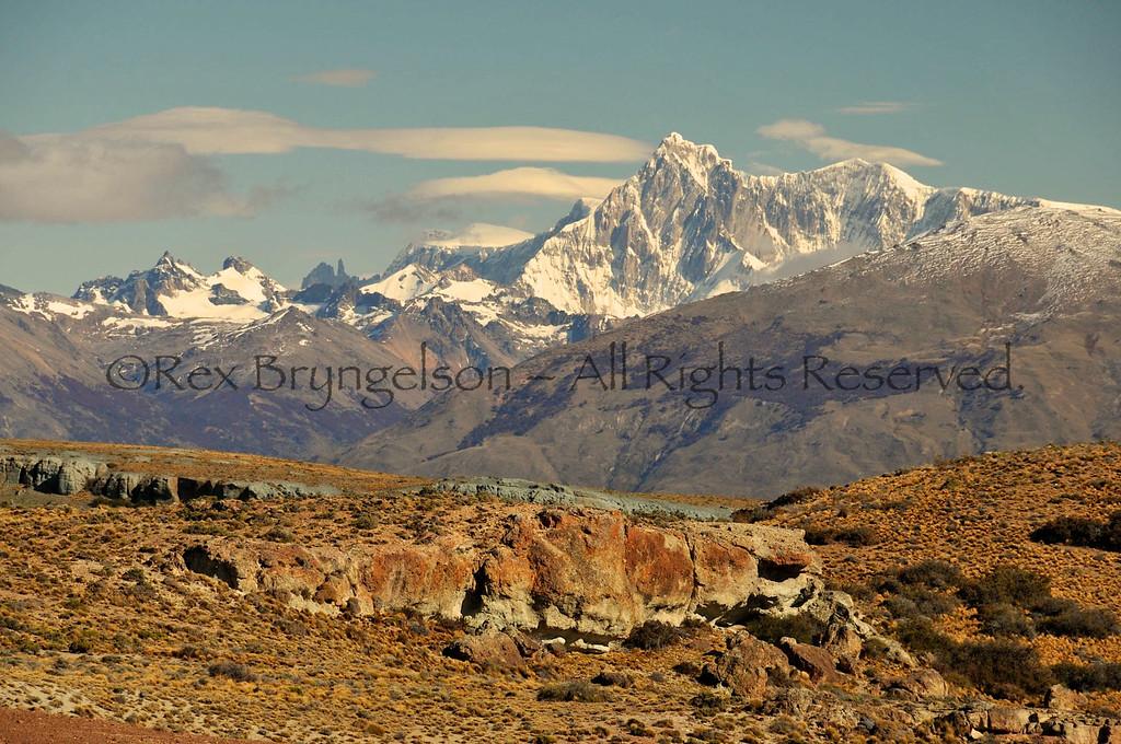 Cerro San Lorenzo (12,160 ft. ) Patagonia's 2nd highest mountain.