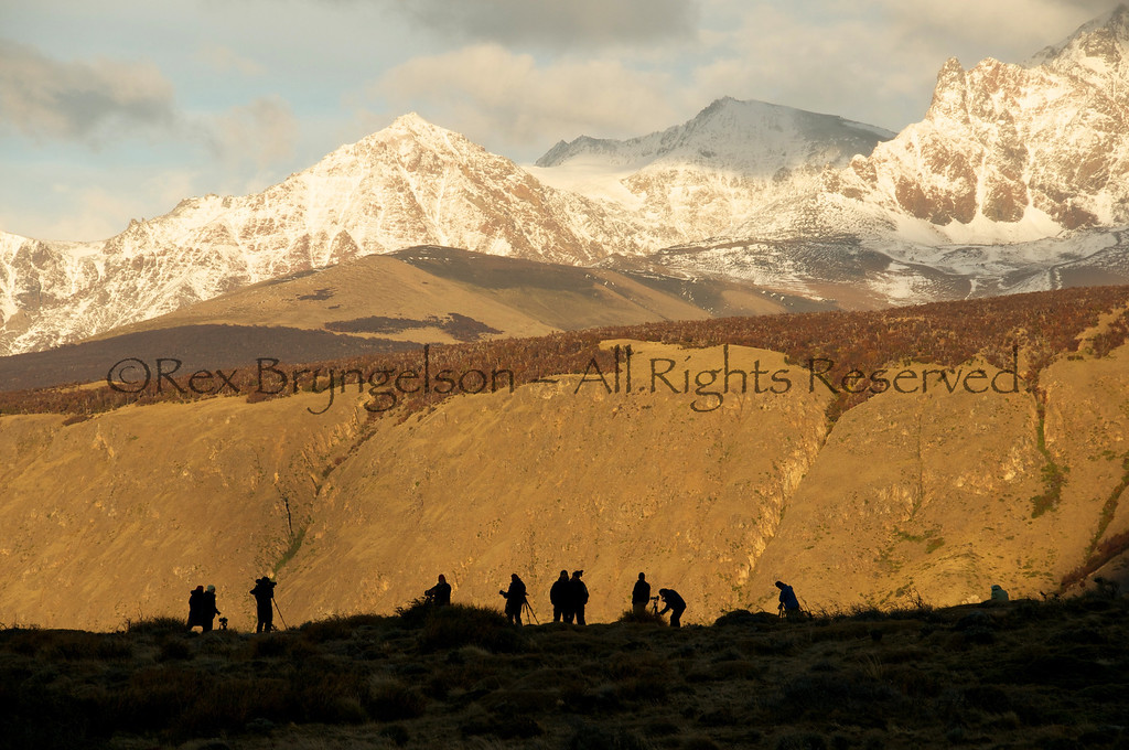 Photographers in Los Glaciares National Park, Argentina