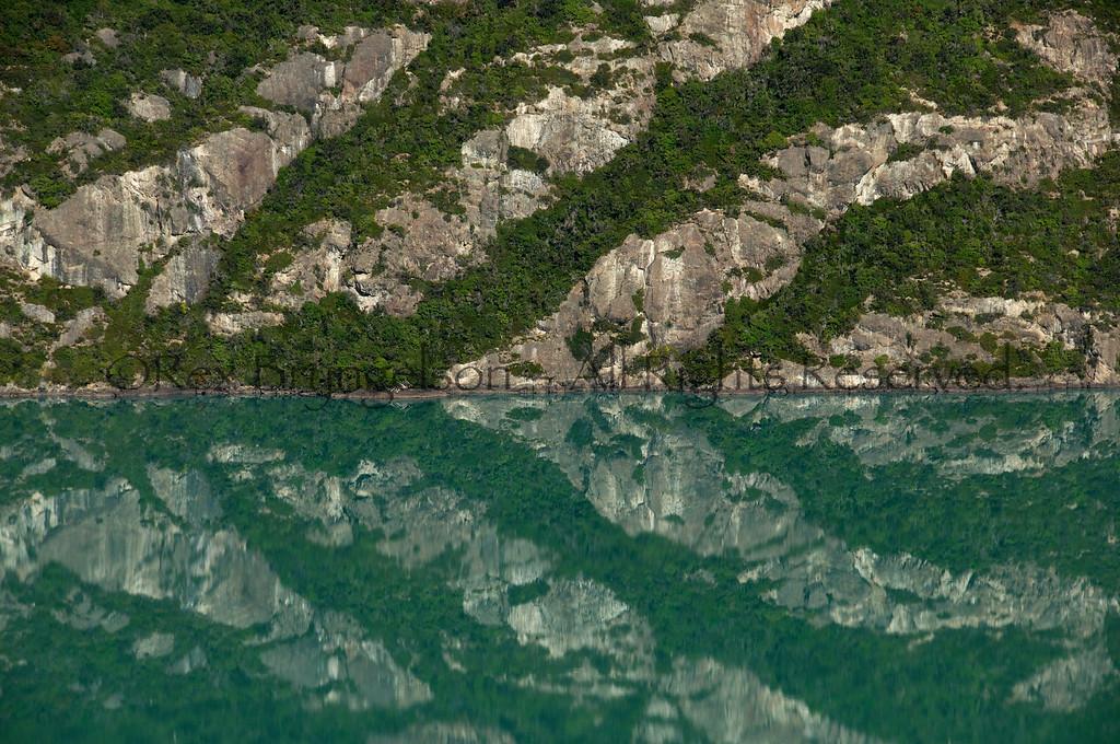 Reflection on Laguna Verde in the Region of Aysen, Chilean Patagonia