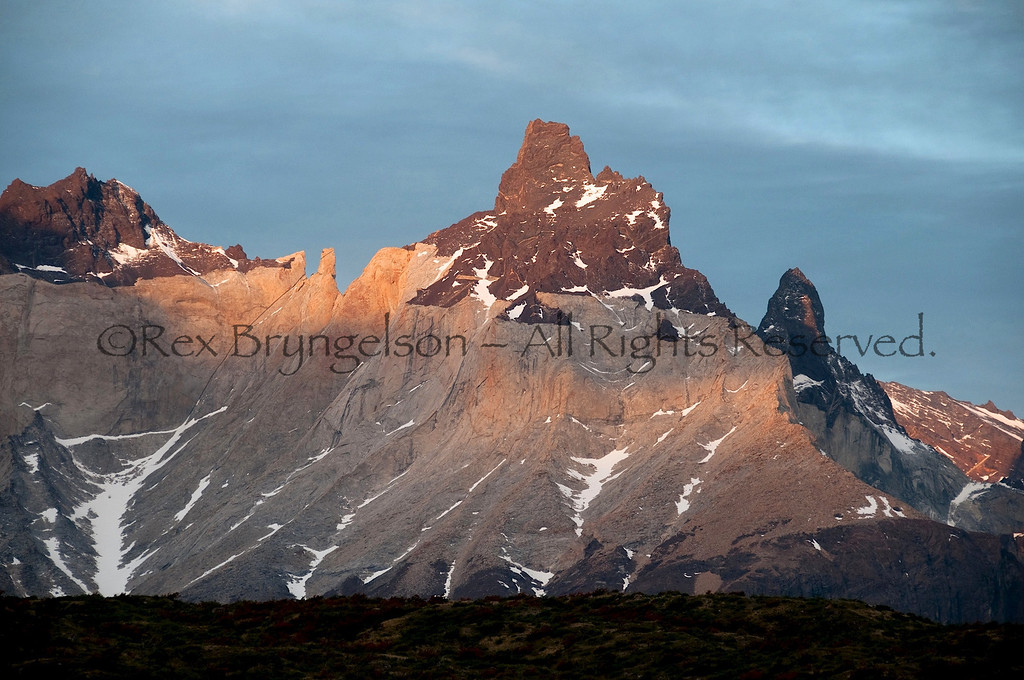 Sunset on the Horns. Torres del Paine National Park, Chilean Patagonia.