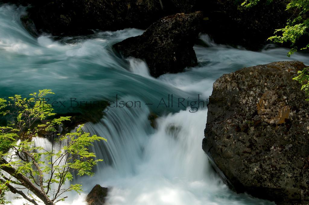 Waterfall on the Rio de las Vueltas, Los Glaciares National Park, Argentina
