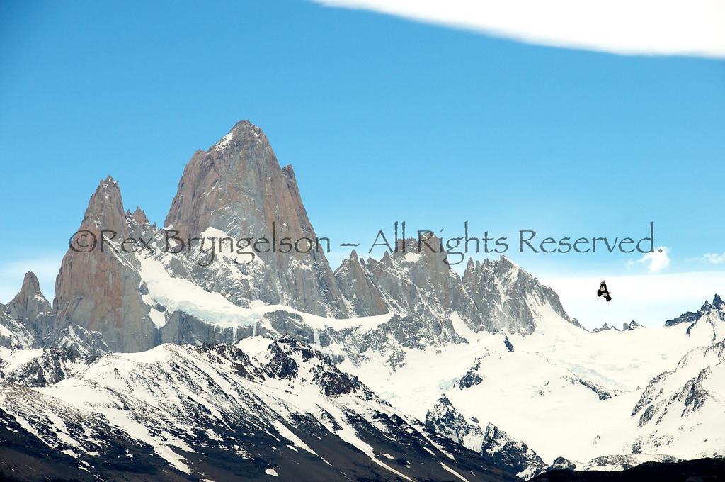 Cerro Fitzroy and Condor, Los Glaciares National Park, Argentina