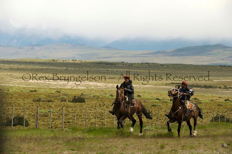 Baqueanos near Torres del Paine