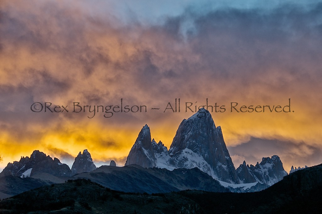 Cerro Fitzroy at sunset, Los Glaciares National Park, Argentina