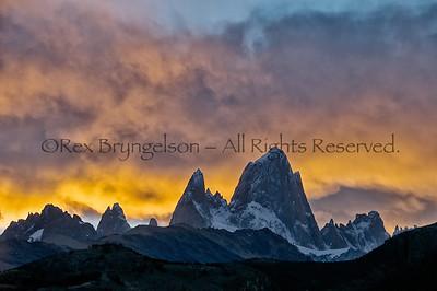Cerro Fitzroy at sunset, Los Glaciares National Park, Argentina