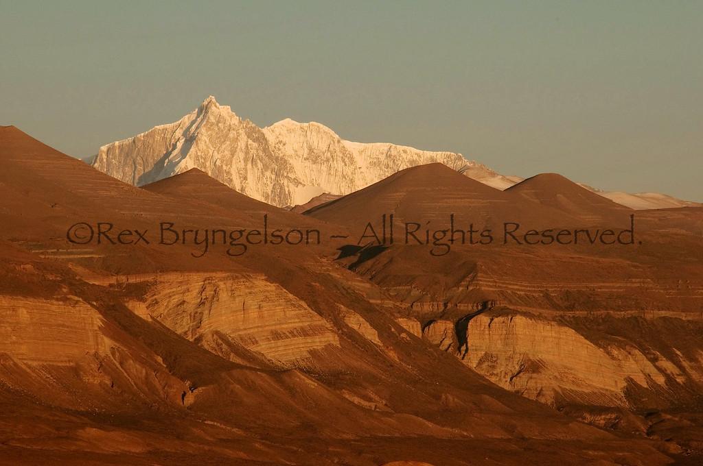 View of Cerro San Lorenzo near Lago Posada.  Argentine Patagonia.