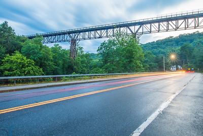 Route 213 and Rosendale Trestle, Rosendale, New York