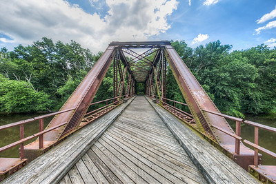 Old train bridge, now part of Wallkill Valley Rail Trail, New Paltz, New York, USA
