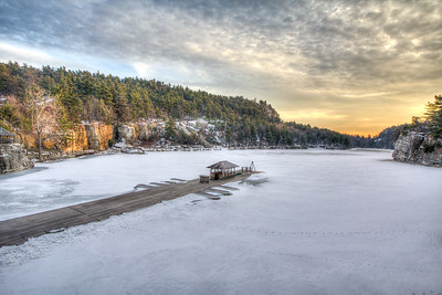 Mohonk Ice Covered Lake