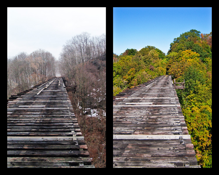 Train Trestle in Rosendale, New York, USA