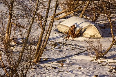 Ashokan Reservoir Winter Boat