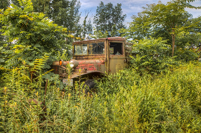 Rusty truck on Bank Road near Rondout Golf Club, Accord, New York