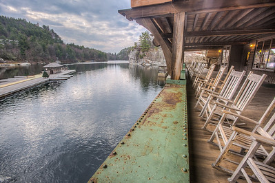 Deck at Mohonk Mountain House
