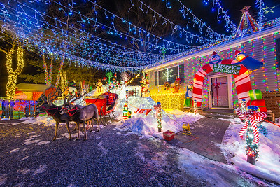 Christmas Lights in Saugerties, New York