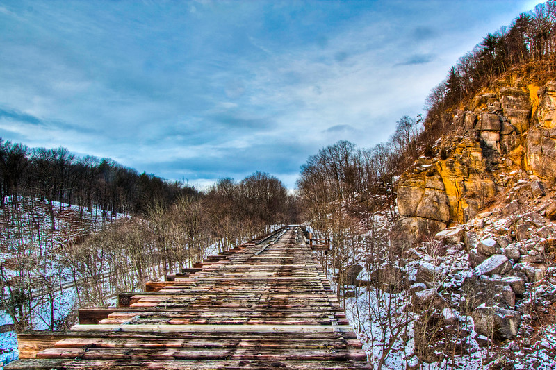 Train Trestle, Rosendale, New York, USA