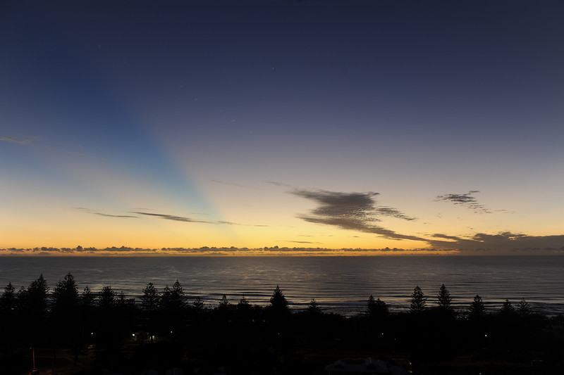 Main Beach sunrise, Gold Coast, Queensland.