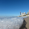 Wave froth. Surfers Paradise, Gold Coast.