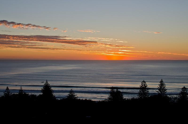Main Beach pre sunrise, Queensland. 24th March 2011.