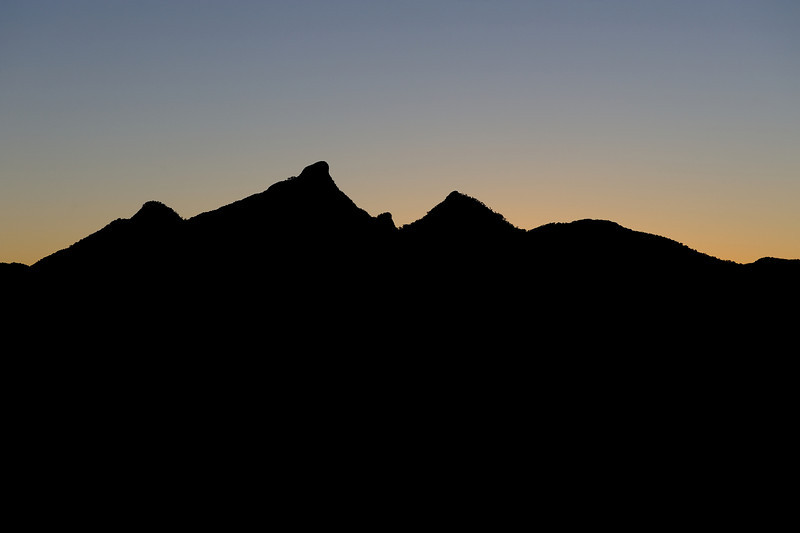 Mt Warning, New South Wales.<br /> Daylight White Balance.<br /> Photographed from near Uki.