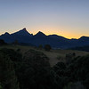 Sunset Mt Warning, New South Wales.<br /> HDR image.<br /> Photographed from near Uki.
