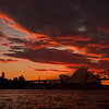 Sydney Opera House sunset.