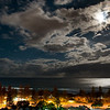 Moonlight over Main Beach, Gold Coast, Queensland.