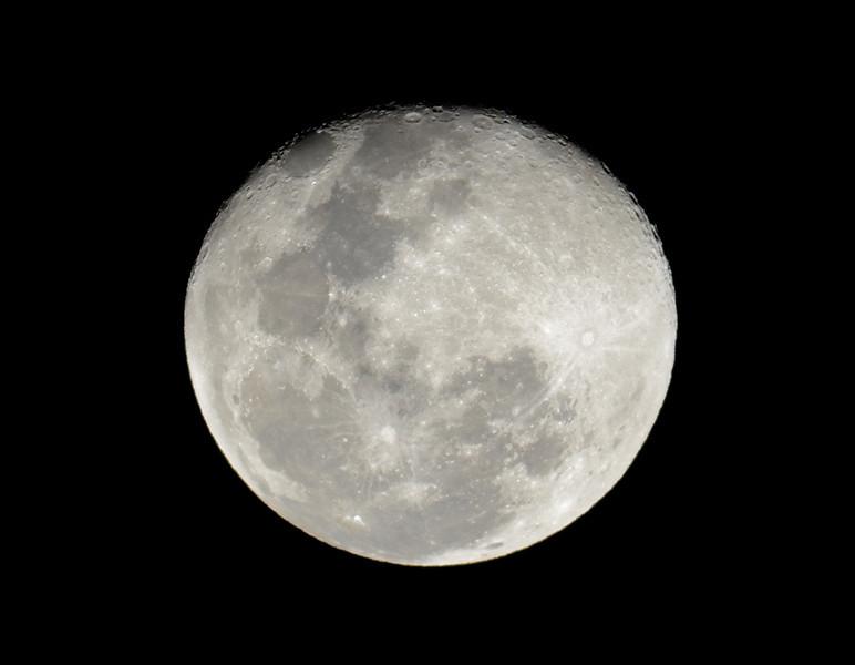 Moon at Main Beach, Queensland.