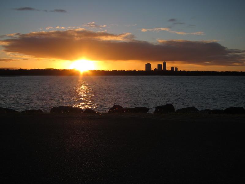 Sunset The Spit., Gold Coast, Queensland.