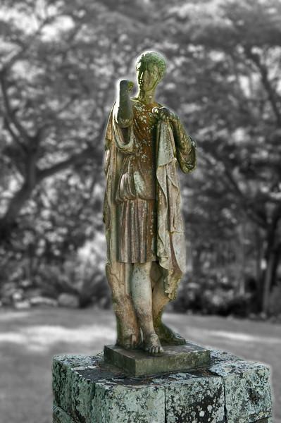 The Greek goddess Diana statue<br /> Allerton Garden Kauai, Hawaii.
