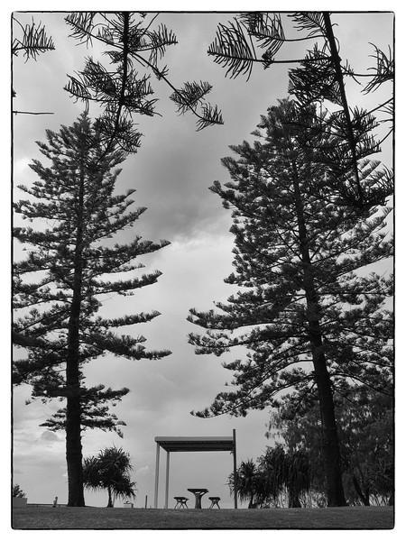 Main Beach, Gold Coast, Queensland. B/W.