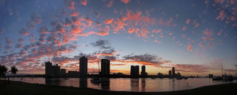 Main Beach, Broadwater sunset.