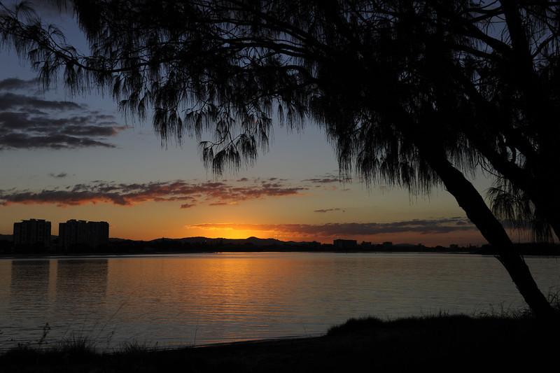 The Spit sunset, Gold Coast, Queensland.