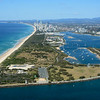 Aerial images The Spit, Gold Coast, Queensland.
