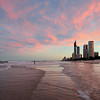 Surfers Paradise, wave trail, Gold Coast, Queensland.