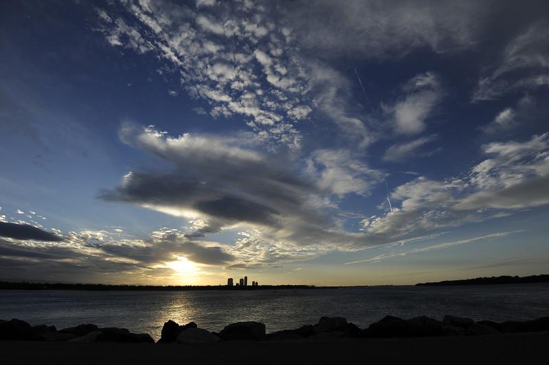 The Spit seaway, Gold Coast, Queensland.