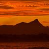 Byron Bay sunset, Mt Warning, New South Wales, Australia.