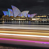 Passing lights. Sydney Opera House.