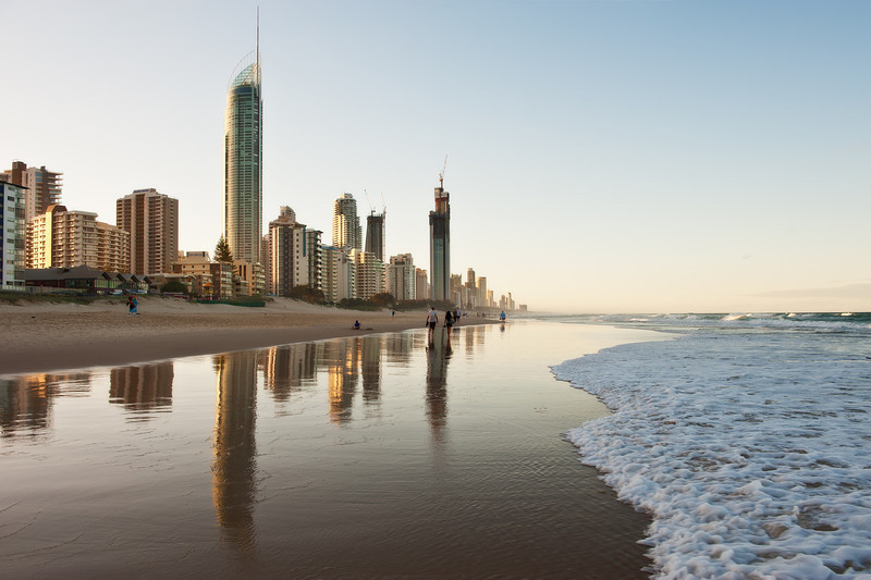 Surfers Paradise reflections, Queensland.