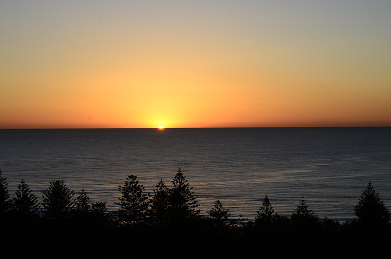 Main Beach sunrise, Queensland.<br /> Version 1