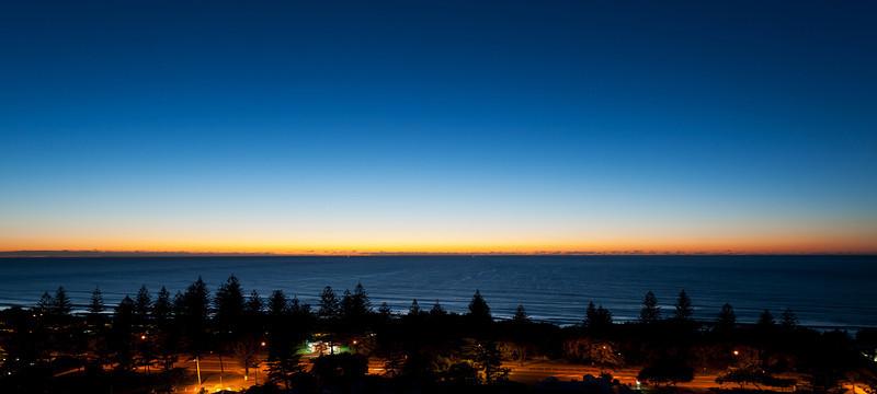 Dawn, Main Beach sunrise, Queensland.