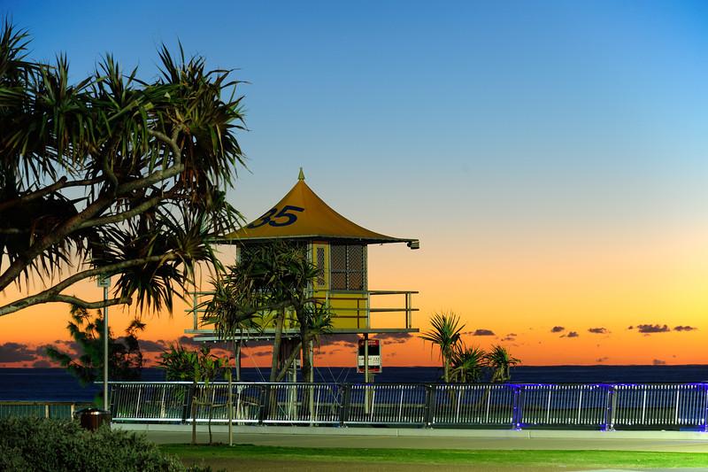 Surfers Paradise dawn glow, Gold Coast, Queensland.