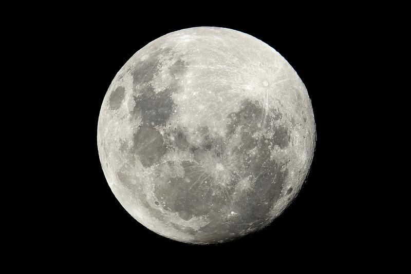 Moon at Main Beach, Gold Coast, Queensland.