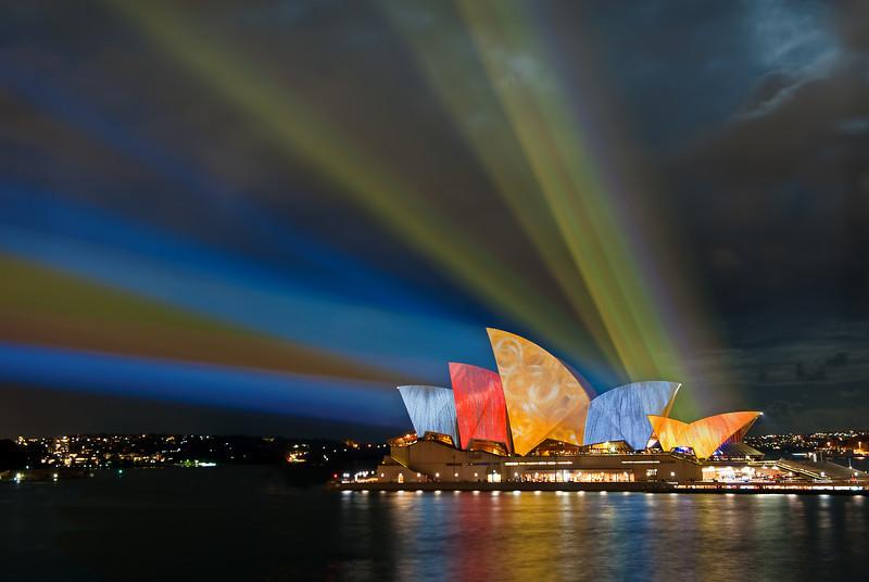 Sydney Opera House, Vivid Sydney festival. 27th May 2010.