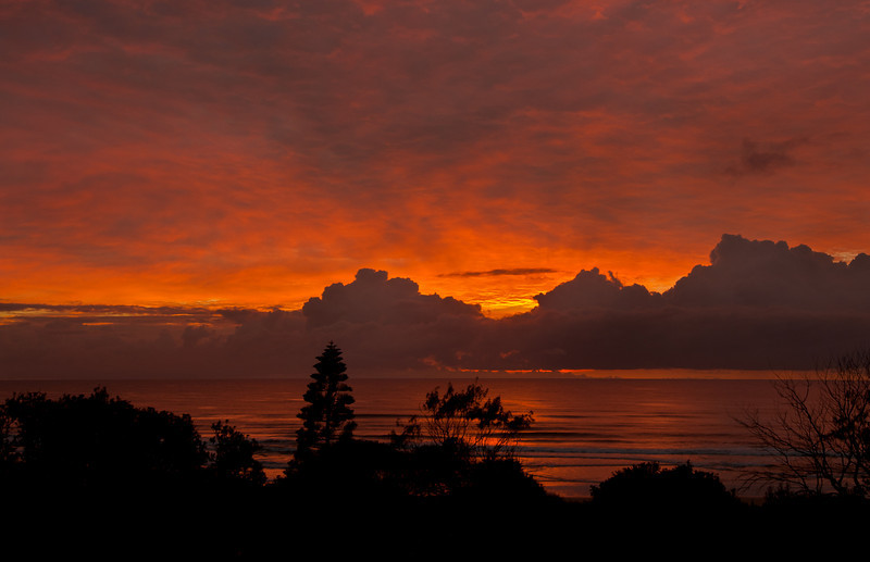 Seven Mile Beach sunrise, New South Wales. Composite Image.