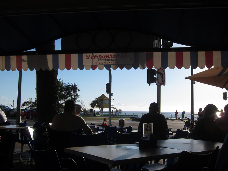Montmartre Cafe By The Sea, Surfers Paradise, Queensland.